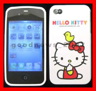 Apple iPhone 4G 4GS   Hello Kitty Skin Hard Case Phone Cover Accessory