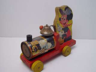 Vintage Fisher Price Mickey Mouse Choo Choo #485
