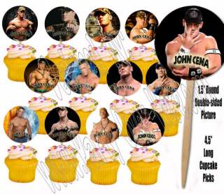 Wrestling Wrestlers JOHN CENA ONLY 12 Images Cupcake Picks Cake