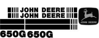 John Deere 650G Crawler Dozer Decal Set With Stripe