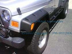 Smittybilt Black 6 Wide Fender Flares Jeep Wrangler YJ
