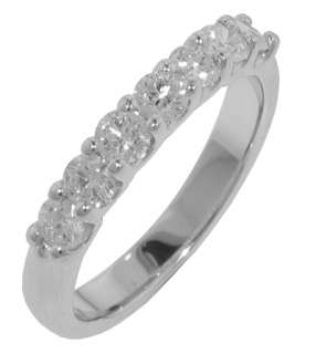 00 Ct Ladies Round Diamond White Gold Wedding Band F VS2 in Sculpted