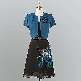 Womens Belted Dress Two Piece  Studio 1 Clothing Womens Dresses