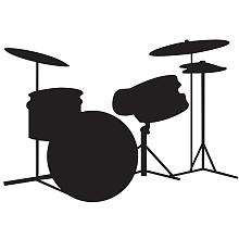 RoomMates Drums Peel & Stick Chalkboard Wall Decals   York Wall