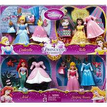 Pack   Cinderella/Belle/Ariel/Sleeping Beauty   Mattel