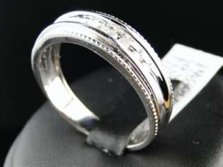 NEW 14K MENS WHITE GOLD ROUND CUT CHANNEL SET DIAMOND WEDDING BAND