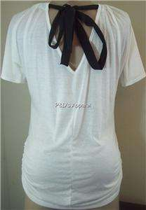 Womens Miss Royal T Maternity White Shirt Top M L XL