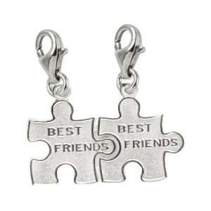 Rembrandt Charms Best Friend/Puzzle Piece Charm with Lobster Clasp