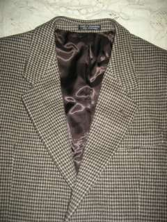 Soft Chereskin Camel Hair Mens Herringbone Sport Jacket SZ 40 S Tan