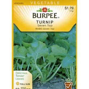 Burpee 68538 Turnip Seven Top Seed Packet Patio, Lawn