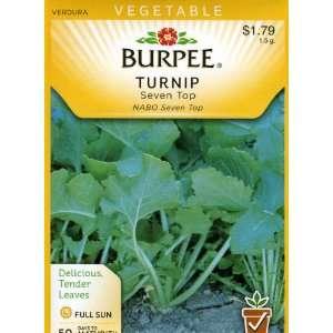 Burpee 68538 Turnip Seven Top Seed Packet Patio, Lawn