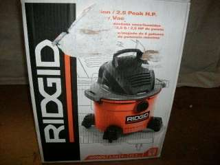 RIDGID 6 GAL SHOP VAC WD067 & 2 GAL AIR COMPRESSOR |