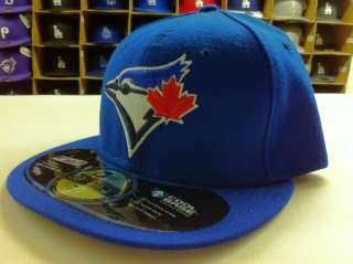 59FIFTY MLB FITTED TORONTO BLUE JAYS GAME HOME ROYAL HATS CAPS