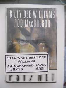 Star Wars rare Billy Dee Williams signed numbered book