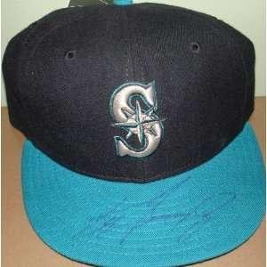 Ken Griffey Jr. autographed Baseball Cap Seattle Mariners