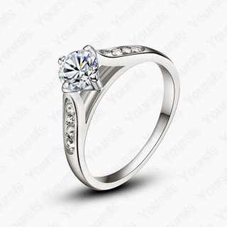 18K Whited Gold Plated 1ct Multi Swarovski Crystal Emulational Diamond