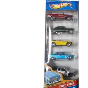 5 Pack Classics Chevy 5 pack Diecast Vehicle Set Toys & Games
