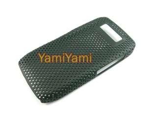 Plastic Hole Skin Protector Cover Case For Nokia E71 Black