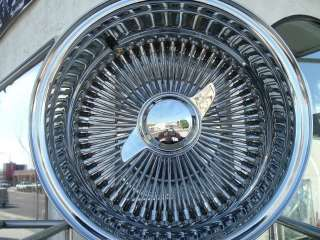 14 Chrome spoke Lowrider Wire Rims Wheels IMPALA BUICK