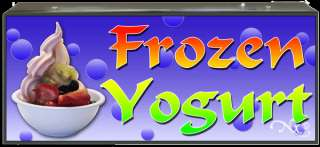 BOX SIGN FROZEN YOGURT  LB025 led neon open