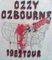OZZY OSBOURNE Vintage Concert SHIRT 80s TOUR T RARE ORIGINAL 1982