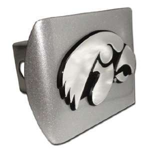 University of Iowa Hawkeyes Brushed Silver with Chrome Tiger Hawk