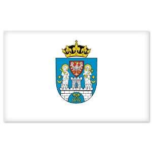 Poznan City Flag car bumper sticker window decal 5 x 3