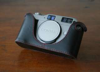 Mr. Zhou Red Stitching Leather Half Case for Contax G1