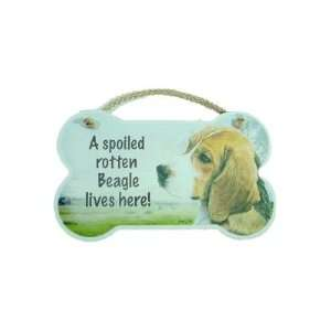 Spoiled Rotten Beagle Plaque Sign