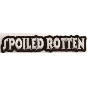 SPOILED ROTTEN FUN Embroidered Biker Leather Vest Patch