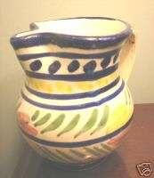 Italian terra cotta creamer pitcher gaudy dutch glaze