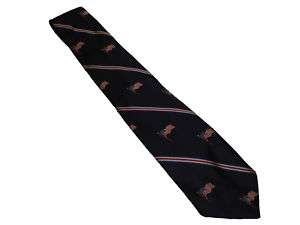 Ralph Lauren Blue Red Polo USA Flags July 4th Neck Tie
