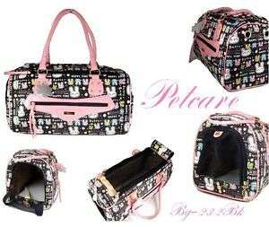 lovely black pink pet dog cat bag rabbit carrier Large