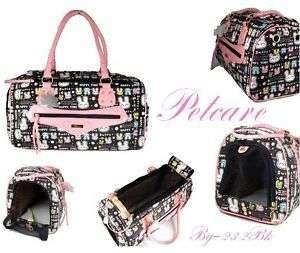 lovely black pink pet dog cat bag rabbit carrier Large