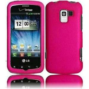 Pink Rubberized Hard Case Phone Cover LG Enlighten VS700 LS700 Optimus