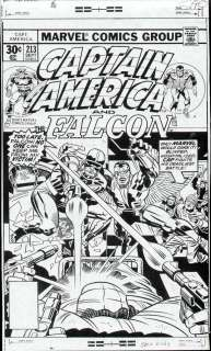 CAPTAIN AMERICA #213 COVER PROOF 1977 JACK KIRBY ART