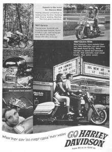 1967 Harley Davidson Electra Glide FLH Original Ad