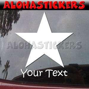 Custom PLAIN STAR Vinyl Decal Car Window Sticker ST12C