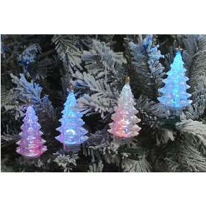 Color LED Christmas Tree Holiday Lights   Green W