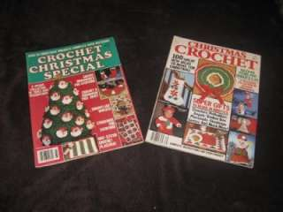 Lot of 2 Christmas Crochet Magazines Pattern Books 1987 & 1986
