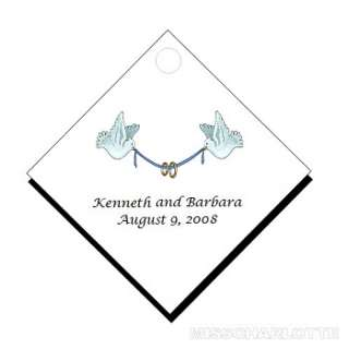 100 Personalized Wedding Diamond Gift Hang Tag Favors