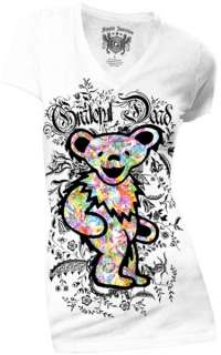 New Grateful Dead Floral Bear Womans Shirt Music Band