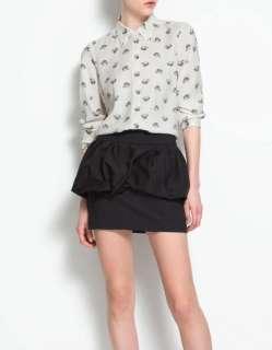Women Vintage Chiffon Leopard head Print Shirt Blouse S M L