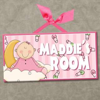 Room Door Sign BABY ANGELS   HEAVEN SENT GIRL Cute Wall Decor