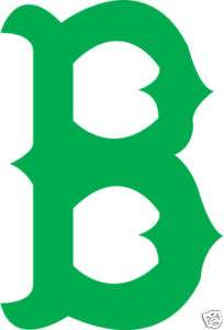 BOSTON RED SOX B LOGO GREEN STICKER / DECAL MLB
