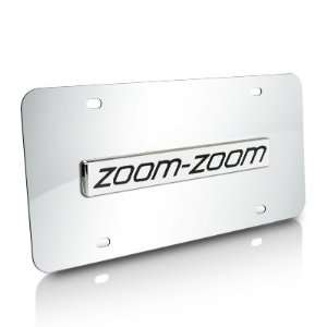Mazda Zoom Zoom Chrome Stainless Steel License Plate