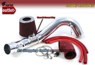 08 07 Civic Si K20Z3 2.0L Cold Air Intake Kit + Red Filter/Polish Pipe