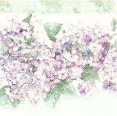 Laser Cut Floral Hydrangea Victorian Wallpaper Border |