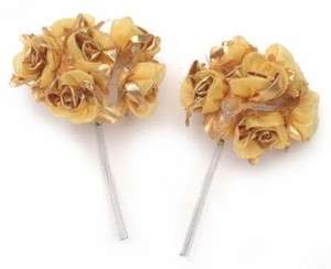 Gold Sheer Satin Rose  Fall Wedding   72 Roses