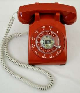 Vintage Western Electric Bell System Red Rotary Phone